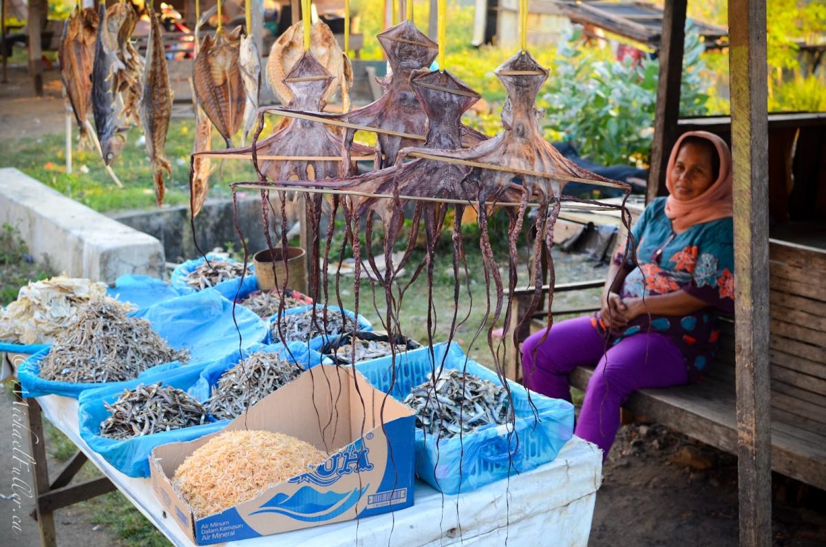 Dried fish market