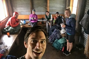 A soggy lunch in Roper Hut