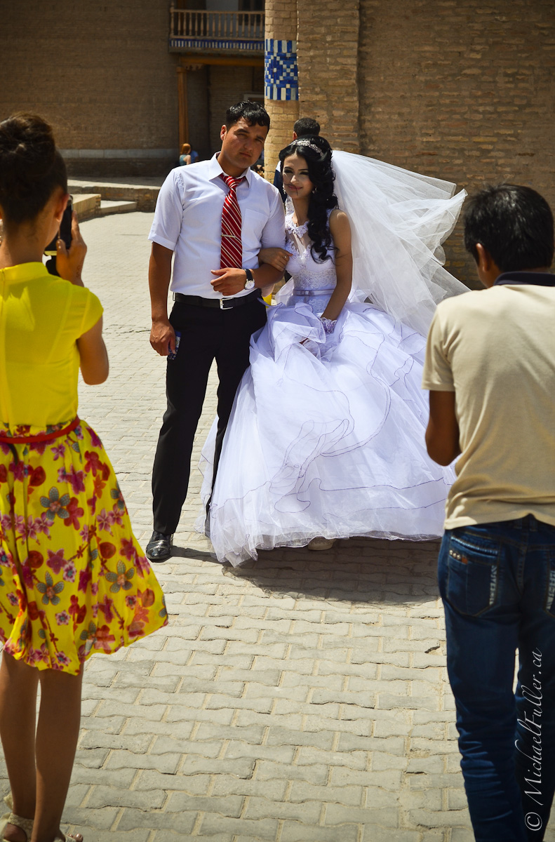 Uzbek weddings are serious media events: This couple had three photographers / videographers.