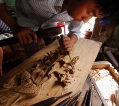 Wood Carving Village 5083786999[H]