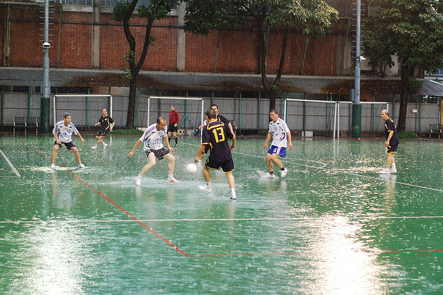 wet soccer in Hong Kong