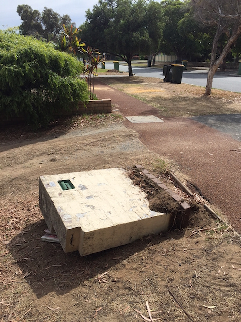 mailbox toppled again