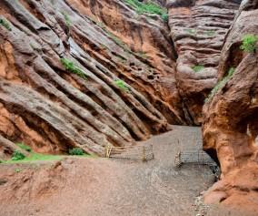 The strange martian geology of Jeti Oghuz valley near Karakol.