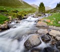 Kyrgyzstan river long exposure landscape