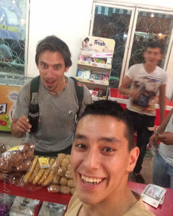 selfie in Tashkent shop with Timur