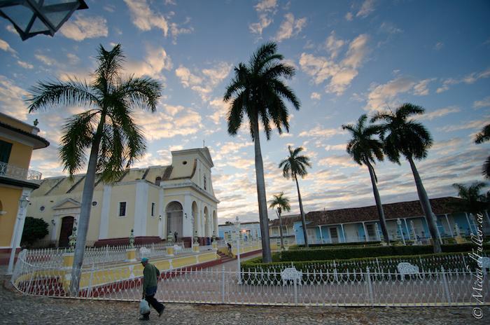 Trinidad Cuba Plaza Sunset
