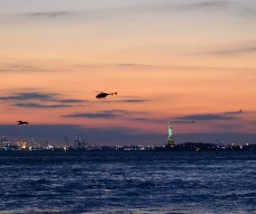 Manhattan Night Birds (and helicopters)