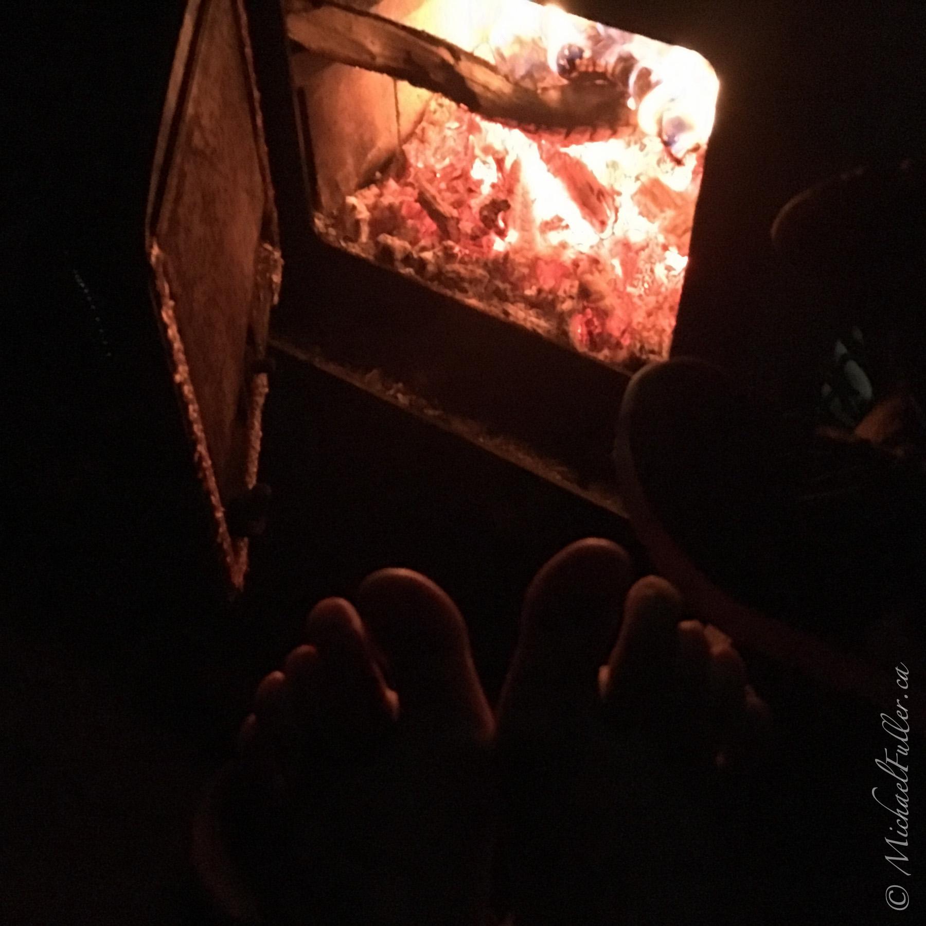 Having huts at night was bliss