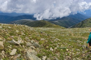 The best view of the whole trip! From Mt Bogong looking down the Eskdale Spur