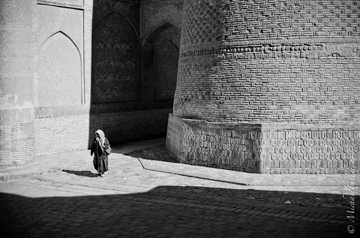 The streets of Bukhara.