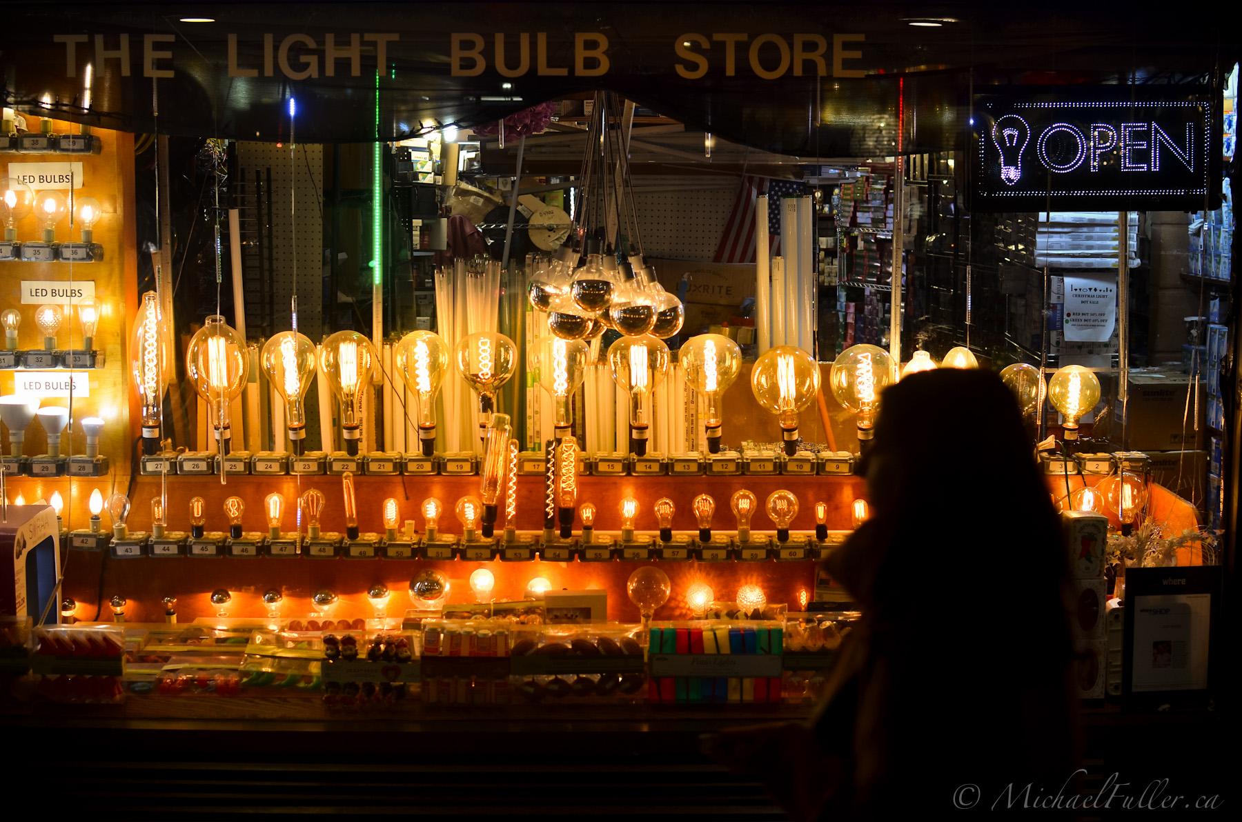 An illuminating storefront