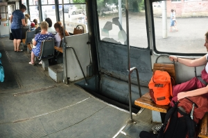 Russian trams are 'no frills'