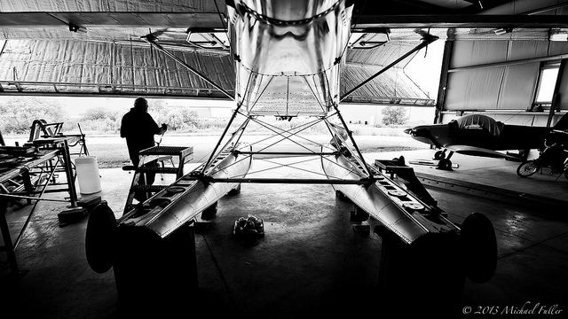 After commandeering our ping-pong room twenty years ago, my father has finally finished building his airplane