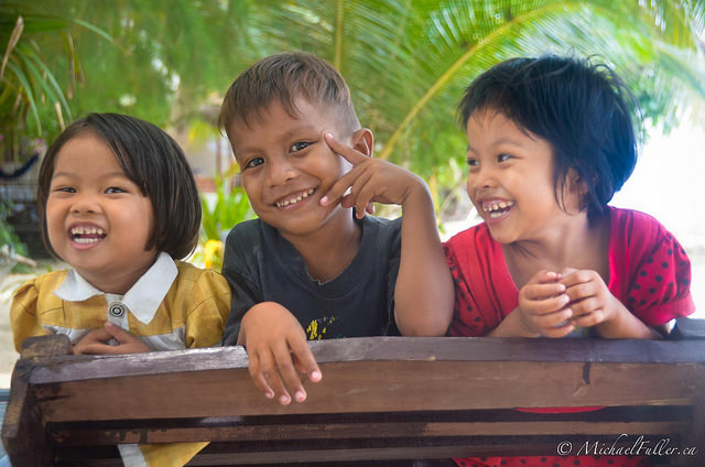 cute Togean kids