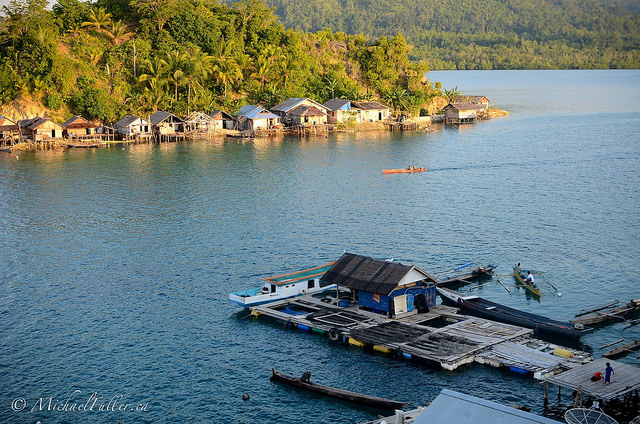 One of the larger Bajau villages in the area