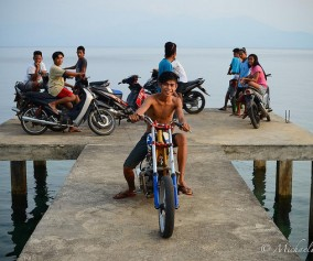 Motorbike kids on Bunaken Island