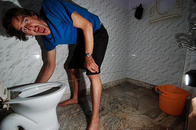 Dan tests the toilet bum jet