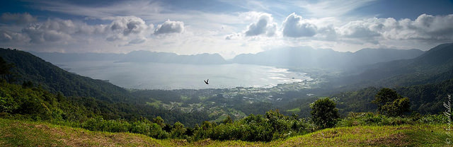 Lake Maninjau, one of Indonesia's largest lakes