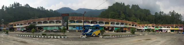 bus station panorama in Parapat