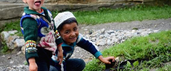 kids at play in Kyrgyzstan