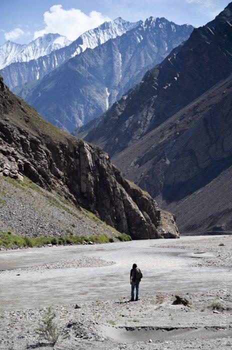walking in the tajikistan mountains